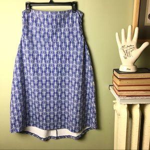 Eddie Bauer Julia Knit Maxi Skirt Blue Smoke ikat